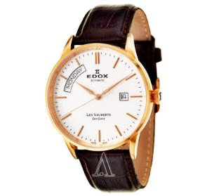 Edox Men's Les Vauberts Day Date Automatic Watch (Dealmoon Exclusive)