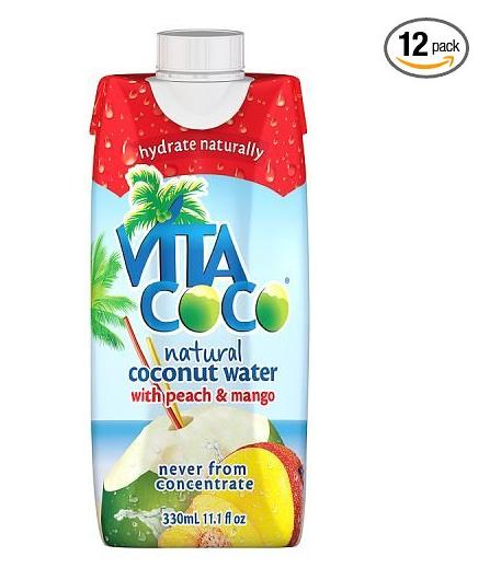 $11.49 Vita Coco Coconut Water, Peach and Mango, 11.1 Ounce (Pack of 12)