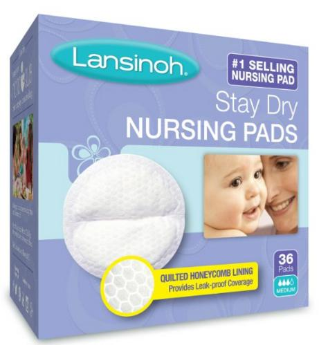 Lansinoh Stay Dry Disposable Nursing Pads, 36 Count  @ Amazon