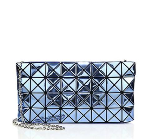 Bao Bao Issey Miyake  Platinum Faux Patent Leather Crossbody Bag @ Saks Fifth Avenue