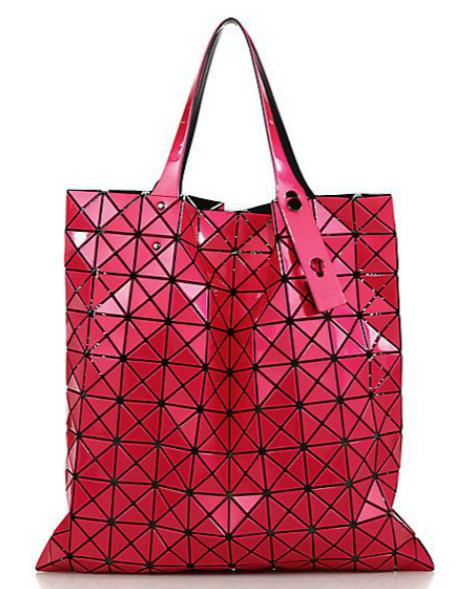 Bao Bao Issey Miyake  Prism Basic Metallic Faux Leather Tote