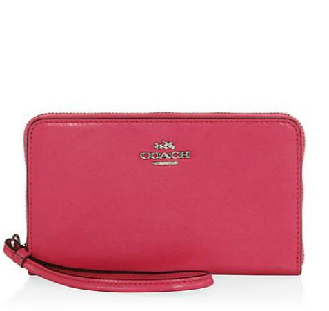 COACH  Leather Corner Zip Wristlet @ Saks Fifth Avenue