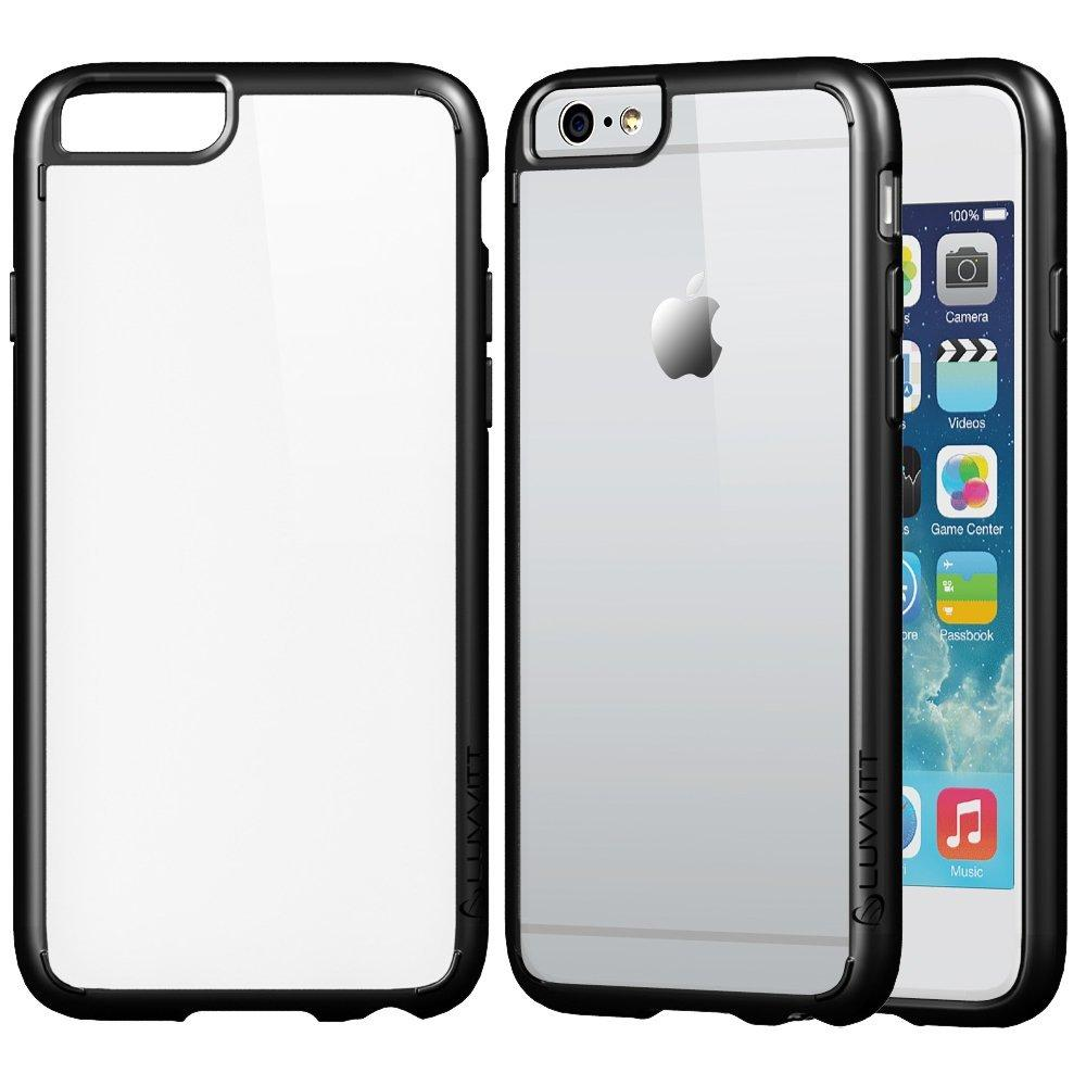 LUVVITT [ClearView] Hybrid Scratch Resistant Back Cover with Shock Absorbing Bumper