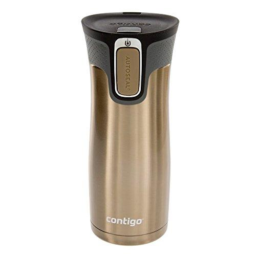 Contigo AUTOSEAL West Loop Stainless Steel Travel Mug with Easy-Clean Lid, 16-Ounce