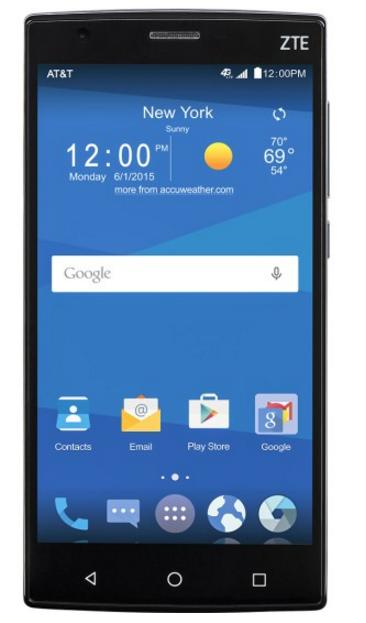AT&T GoPhone - ZTE Zmax 2 4G with 16GB Memory No-Contract Cell Phone - Black