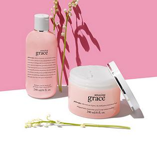 Free Amazing Grace Bath & Body Duo ($50 value) With Any $50 Order @ philosophy