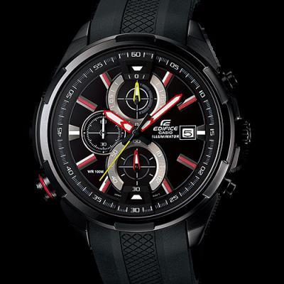 Lowest price! $87 Casio Men's EFR-536PB-1A3VCF Neon Illuminator Black Watch