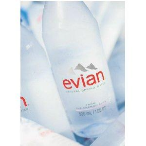$13.00 evian Natural Spring Water 1 Liter, 12 Count