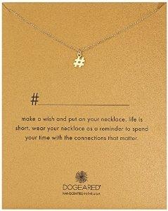 Dogeared Hashtag Pendant Necklace, 16