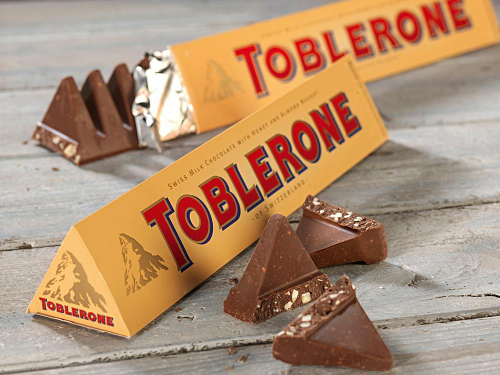 Toblerone Swiss Milk Chocolate with Honey and Almond Nougat, 14.1-Ounce Bars (Pack of 10)