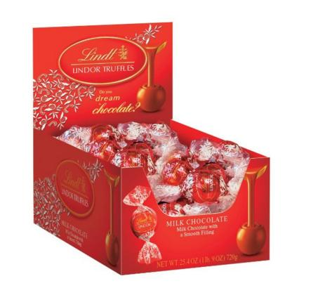 $9.53 Lindt LINDOR Milk Chocolate Truffles, 60 Count Box