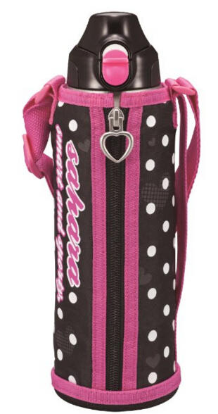 Tiger 1.0 Liter Stainless Steel Sports Bottle With Holder Pink