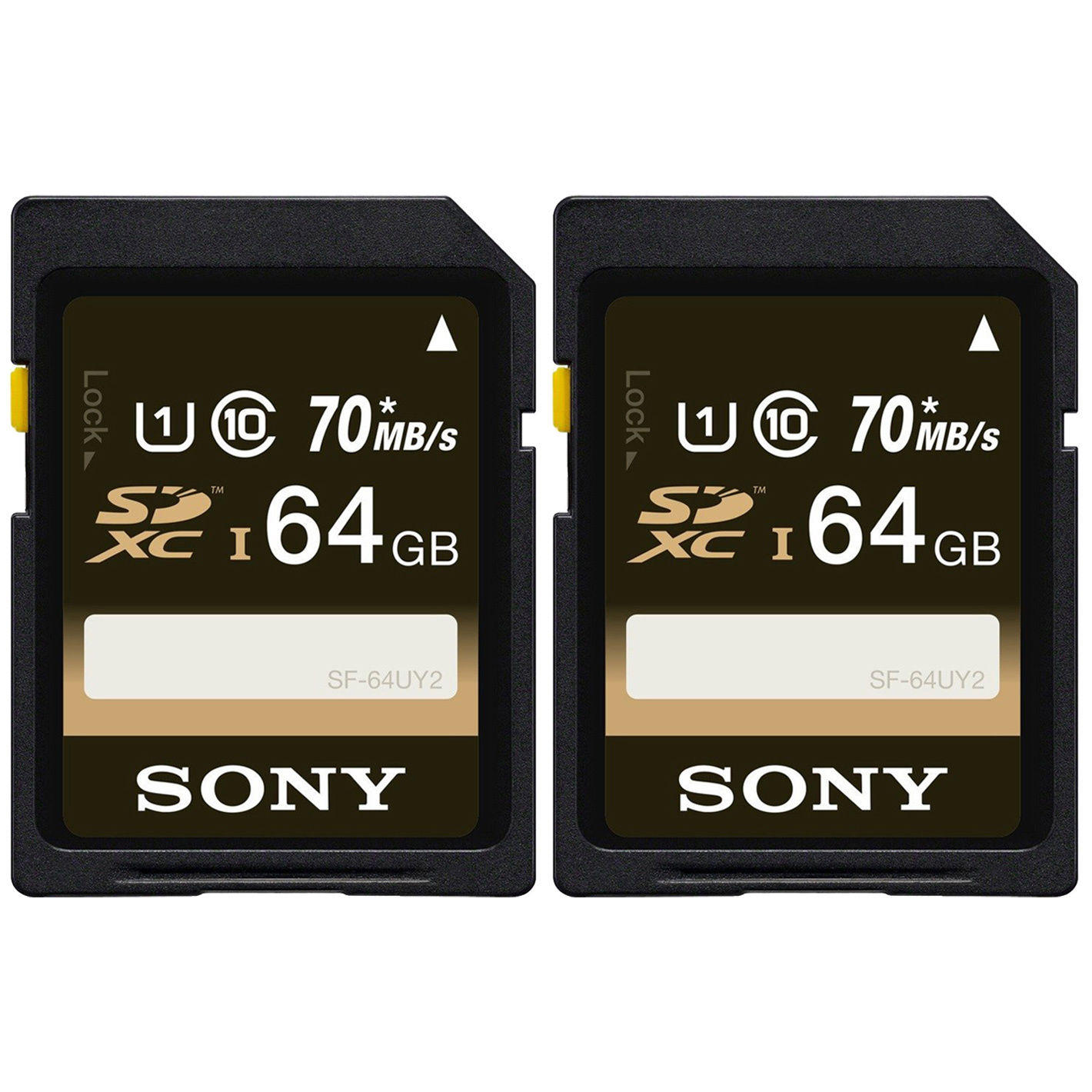 $29.99 Sony 64GB Class 10 UHS-1 SDXC up to 70MB/s Memory Card  - 2 Pack
