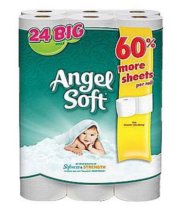 $6Angel Soft 2-Ply Big Rolls Bath Tissue, 24 Rolls/Pack