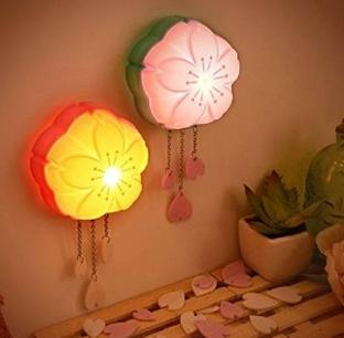 KssFire® Romantic sakura voice and light control LED night light