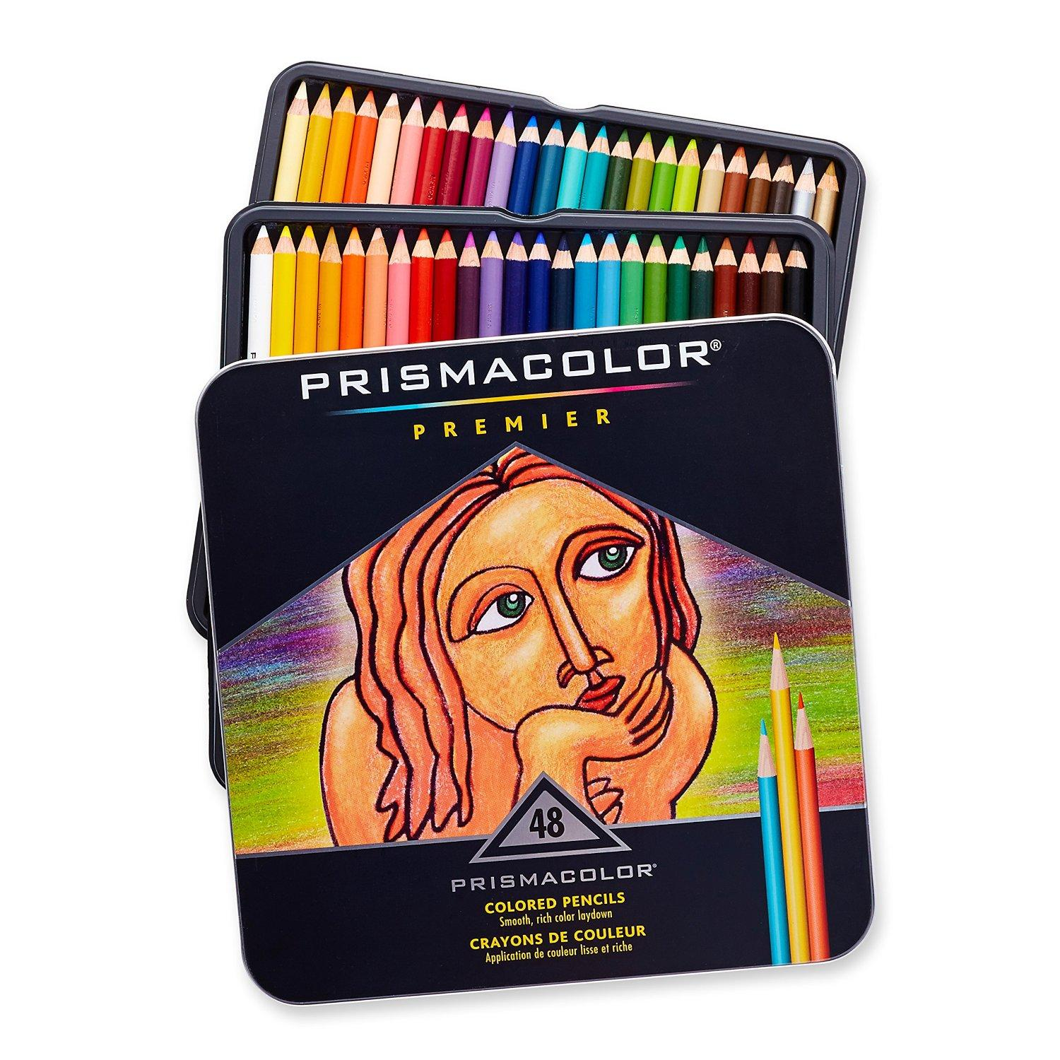 Prismacolor Premier Soft Core Colored Pencil, Set of 48 Colors