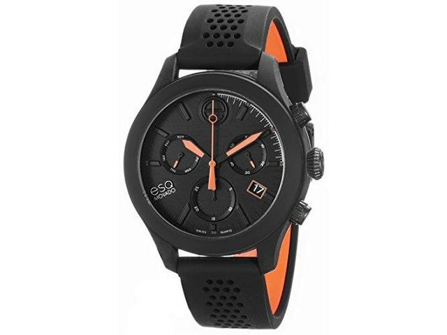 ESQ Movado One 07301470 Chronograph Black Silicone Unisex Watch