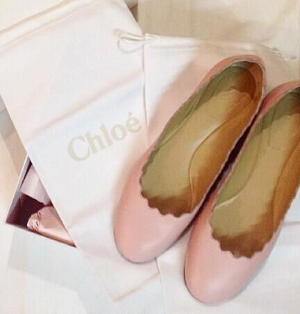 10% Off CHLOÉ  'Lauren' ballerinas @ Farfetch