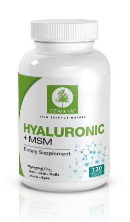 OZNaturals Hyaluronic Acid Joint Supplement + MSM