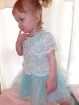 Nannette Baby Girls' Dress with Novelty Lace and Glitter Mesh Overlay