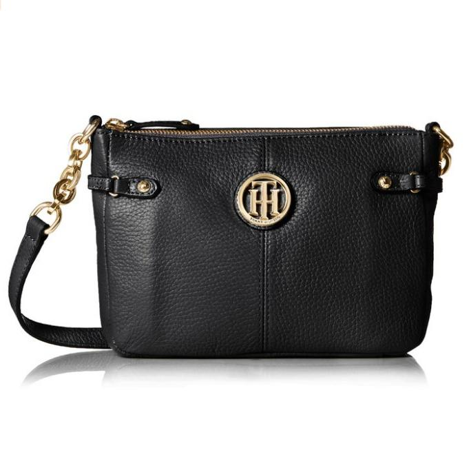 $64.31 Tommy Hilfiger Sadie Leather EW Cross Body Bag