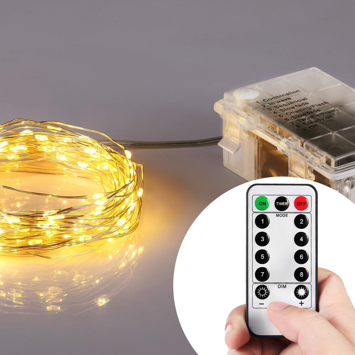 Homestarry HS-B-SL-011 132 Battery Operated Micro LED String Lights