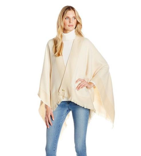 Calvin Klein Women's Woven Ruana Cardigan Sweater@ Amazon