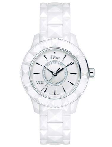 DIOR VIII Diamond White Ceramic and Steel Ladies Watch
