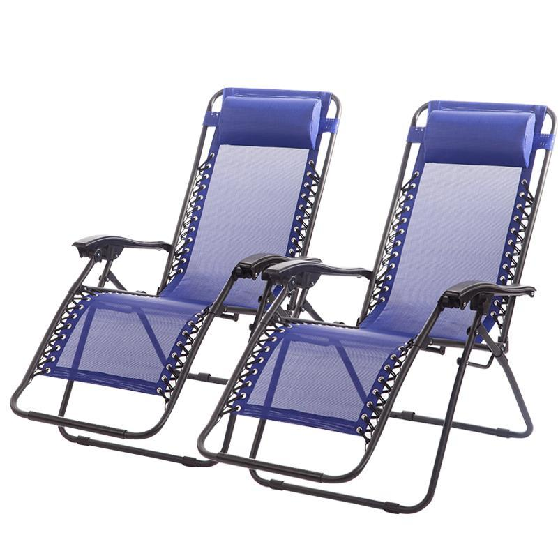 $59.99 Zero Gravity Chairs Case Of (2) Lounge Patio Chair Outdoor Yard Beach Pool