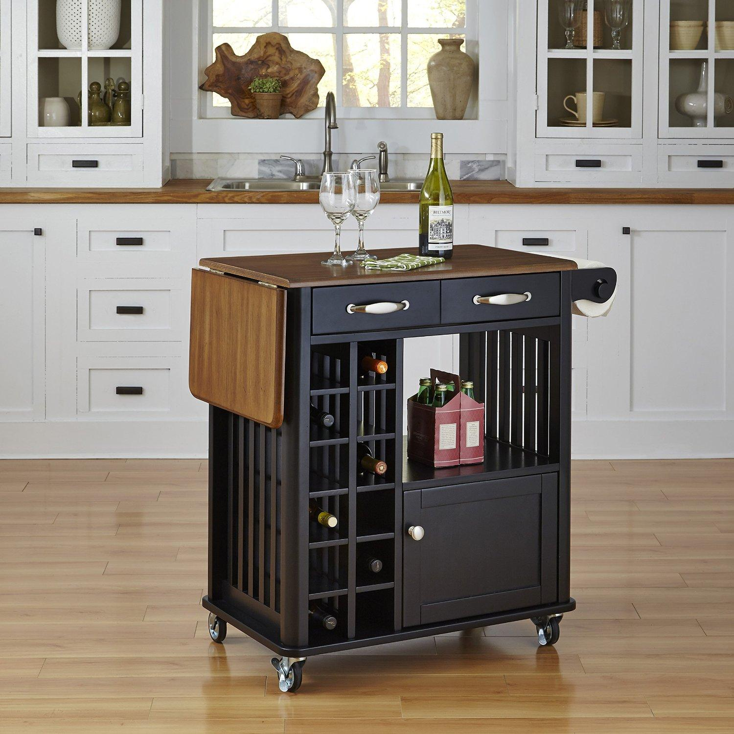 Home Styles Furniture 5252-95 Danville Kitchen Cart, Black Finish