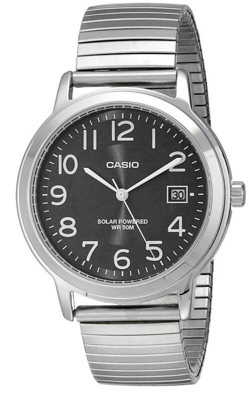 Various Casio Easy-To-Read Solar Stainless Steel Watch