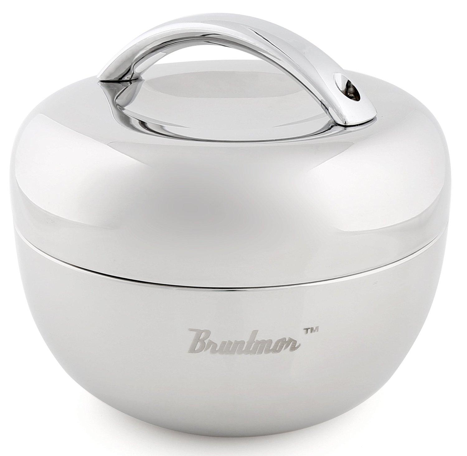 Bruntmor, BRUNCH 18/8 Steel 34oz 2 Tier Double Wall Bento Box