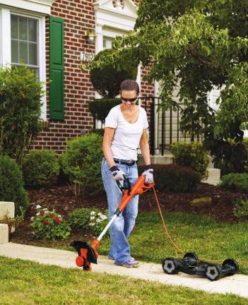 $78.27 Black & Decker 12-Inch Electric 3-in-1 Trimmer/Edger and Mower, corded, 6.5-Amp