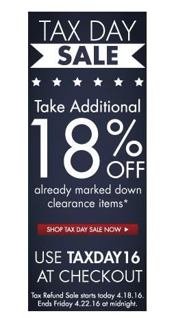 Extra 18% on clearance items Zwilling J.A. Henckels TAX DAY SALE