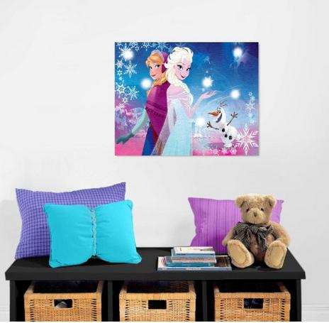 Disney Frozen Canvas LED Wall Art @ Amazon