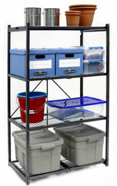 $84.99 Origami R5-01W General Purpose 4-Shelf Steel Collapsible Storage Rack with Wheels, Large