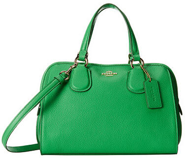 COACH Refined Grain Leather Mini Nolita Satchel