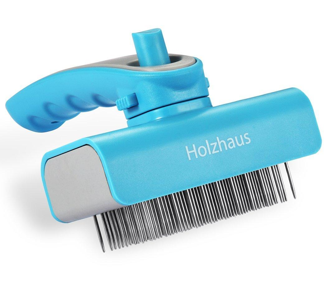 Holzhaus Pet Deshedding Grooming Tool for Small, Medium & Large Dogs & Cats with Short to Long Hair