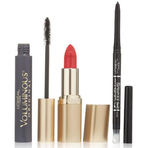 $9.57 L'Oreal Paris Icons Makeup Kit, with Voluminous Mascara, Infallible Liner and Colour Riche Lip