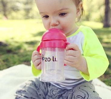 ZoLi BOT XL Straw Sippy Cup - Pink 9 oz @ Amazon
