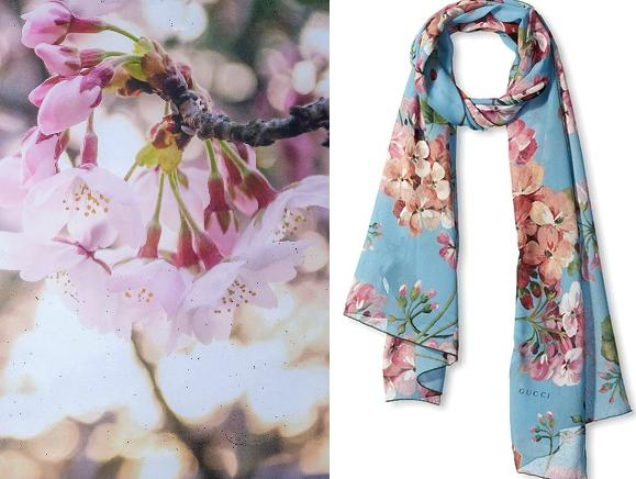 Gucci Silk Scarf, Nile/Pink On Sale @ MYHABIT