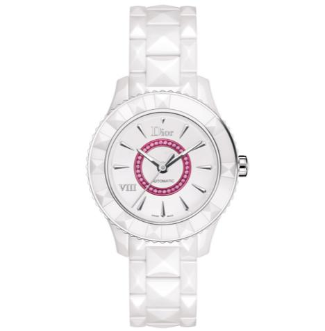 Lowest price! $1450( reg. $7650)Christian Dior VIII White Dial Ceramic Ladies Watch