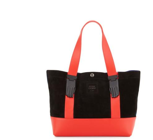 Opening Ceremony Millie Colorblock Small Tote Bag, Cobalt/Multi @ Neiman Marcus