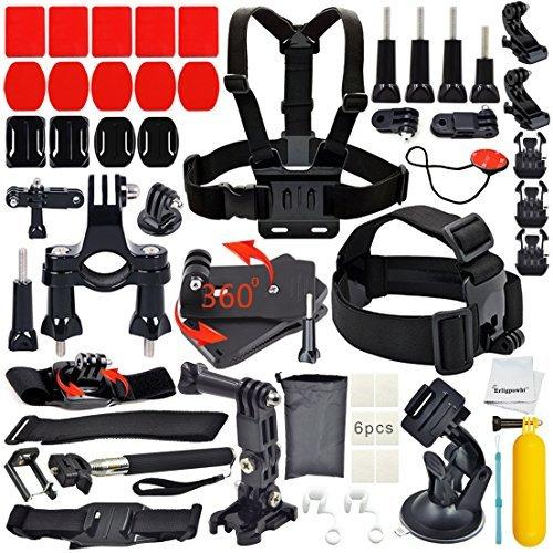 Erligpowht Basic Common Outdoor Sports Kit for GoPro (40 Items)