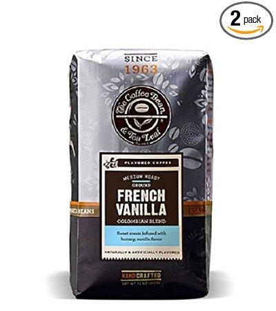$10.68 The Coffee Bean & Tea Leaf, Hand-Roasted French Vanilla Ground Coffee, 12-Ounce Bags (Pack of 2)