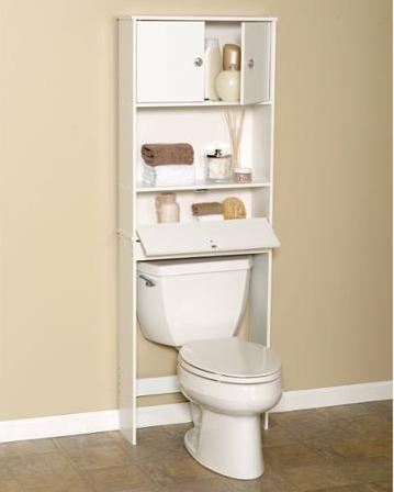 Zenna Home 9401W, Drop Door Bathroom Spacesaver