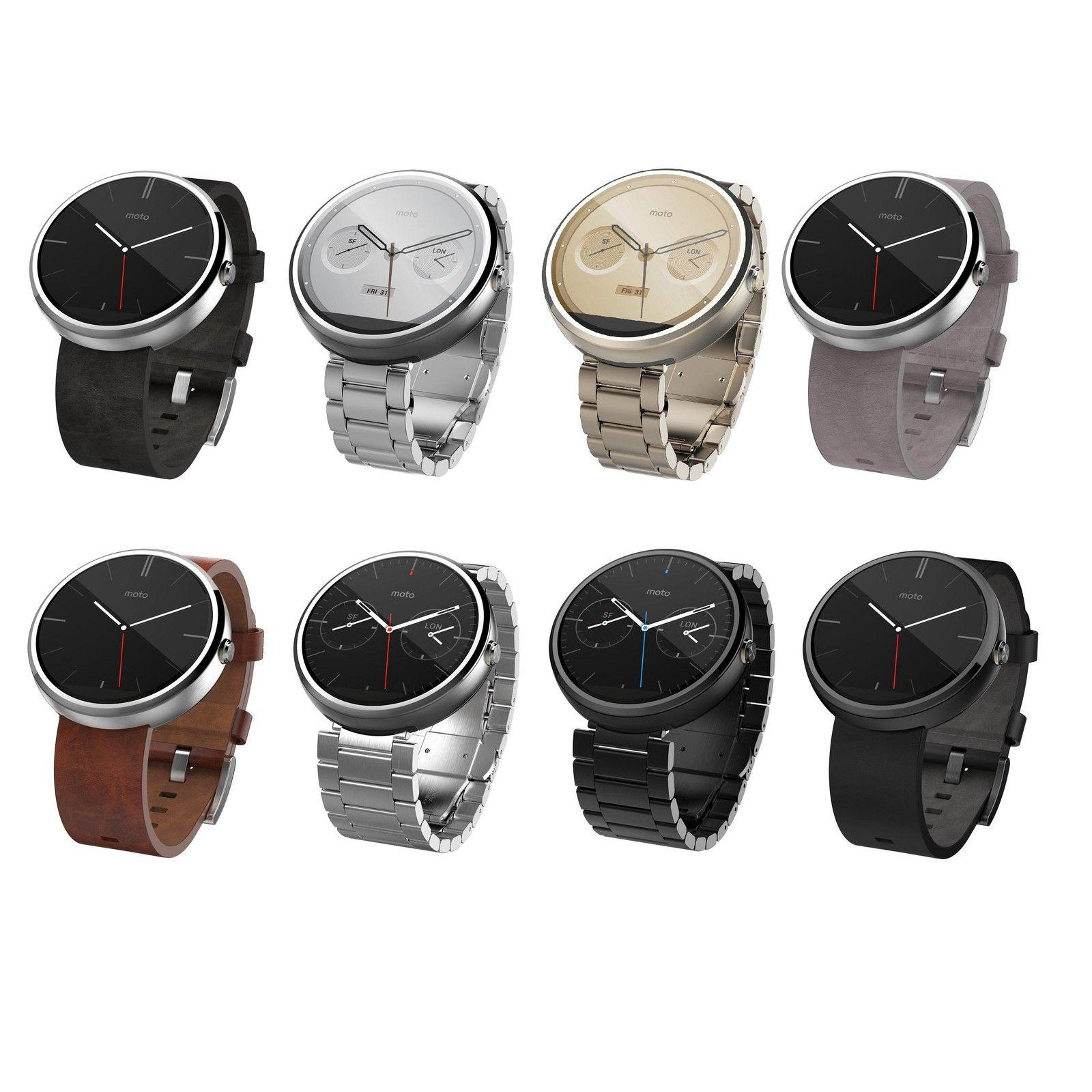 Moto 360 46MM Water Resistant SmartWatch (Seller refurbished)