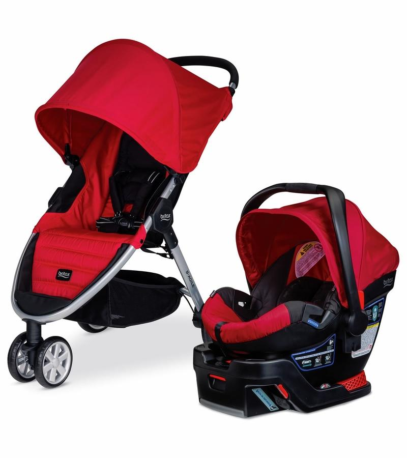 Britax B-Agile 3 & B-Safe 35 Travel System - Black or Sandstone
