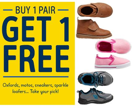 BOGO + Extra 25% Off Over $50 Shoes Sale @ OshKosh BGosh