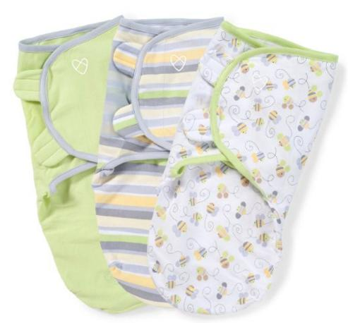 SwaddleMe Original Swaddle 3-PK, Busy Bees (SM) @ Amazon